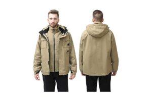 MECASTAR Men's Waterproof Snowboard Hardshell Winter Jacket