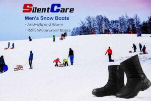 SILENTCARE-Mens-Winter-Mid-Calf-Snow-Boot